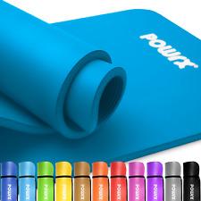 POWRX Gymnastikmatte Sportmatte Yogamatte Trainingsmatte Fitness inkl. Workout