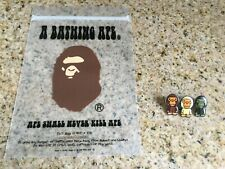 Lot/Set of 3 New Early 2000's A Bathing Ape Baby Milo Pin Badges Patches