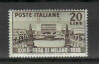 S21556) Italia 1950 MNH Nuevo Feria Milán 1v