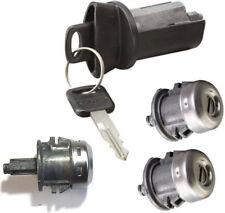 Ford Ignition Switch Lock Cylinder + Three (3) Door Lock Cylinder W/2 Logo Keys