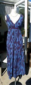 Boden ladies pattern long dress size 8 - Lightly faded BP009