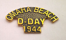 OMAHA BEACH D-DAY 1944   World War II Military Veteran Hat Pin 15854 HO