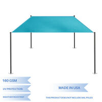 Lake Blue Customize Straight Edge Sun Shade Sail Outdoor Patio Awning Pool Cover