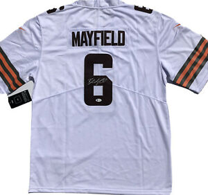 Cleveland Browns #6 BAKER MAYFIELD Signed Autographed Football Jersey #1PICK BAS