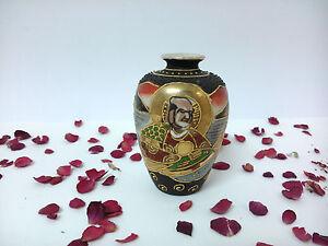 Vase IN Miniature Of Porcelain Oriental, Japan Satsuma, Dai Nippon