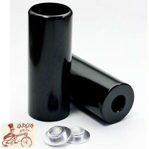 """FREE AGENT 4130 BLACK 3/8""""--14mm AXLE BICYCLE BOLT-ON PEGS--ONE PAIR"""