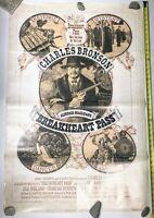 """Original 1976 Breakheart Pass Movie 1 sheet Poster 27""""x41"""" Charles Bronson Vtg"""