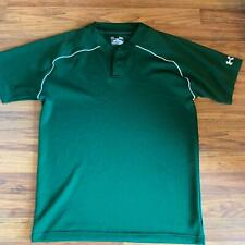 Under Armour Heat Gear S Hunter Green and White Baseball Jersey