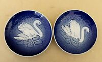 2 Bing & Grondahl Danish Porcelain Plates Mors Dag 1976 Mother's Day Denmark