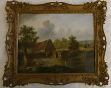 "Patrick Nasmyth (1787-1831) Oil/Panel, ""The Old Mill"", Signed, 1823, 19""x15"""