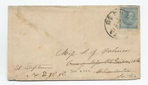 1860s confederate 5cts cover to Charleston SC red and blue edging [S.358]