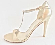Stuart Weitzman Women's Sinful Dress Sandal, Pale Gold, 10 M US MSRP $398
