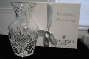 """Waterford Crystal Wedding Heirloom 7"""" Vase w/Original Box-$165 MSRP  p22"""