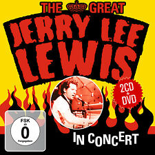 CD DVD Jerry Lee Lewis The Great Jerry Lee Lewis in concert 2cds e DVD SET