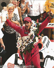 INDY CAR HELIO CASTRONEVES SIGNED 8X10 PHOTO INDIANAPOLIS 500 CHAMPION 5 W/COA