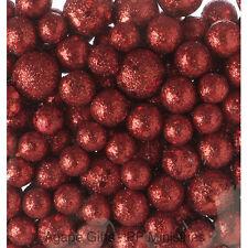 Darice Christmas Decor - Floral Foam Glitter Berries Ball Fillers RED #1189-83