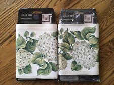 10 Yds Green & White Floral Vinyl Wallpaper Border