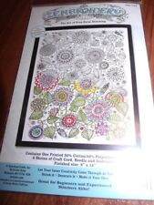 "Janlynn ZENBROIDERY FLOWERS with FLOSS Kit  9"" x 12"""