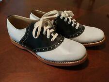 Classic '50's Style Biltrite Girls Saddle Shoes Black & White - 5 B Lace Up