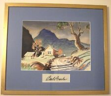 CARL BARKS SCROOGE - ORIG. WATERCOLOR PAINTING - CANYON MORNING (EARLY VERSION)