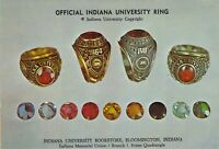 IN Bloomington INDIANA UNIVERSITY BOOKSTORE RING student schedule back 4x6