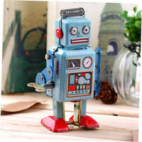 Vintage Mechanical Clockwork Wind Up Metal Walking Robot Tin Toy Kids Gift fj