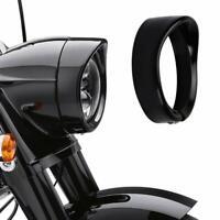 """Scheinwerferring 7"""" Lampenring Harley Davidson Touring Modelle Softail schwarz"""