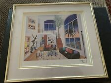 """FRANCOIS LEDAN (FANCH) """"INTERIOR WITH THREE MATISSE"""" 9 X7"""" W/Certificate"""