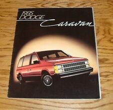 Original 1985 Dodge Caravan Sales Brochure 85