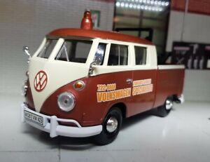 1:24 Model VW Volkswagen Recovery Tow Truck 1962 T1 Type 2 Diecast Van Bus BNIB