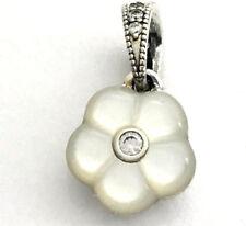 Authentic Pandora Luminous Florals Mother-of-Pearl & CZ Pendant, 390386MOP, New