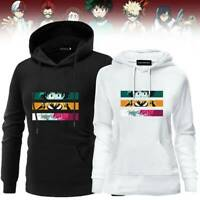 Anime My Hero Academia Hoodies Long Sleeve Cartoon Printed Sweatshirt Jumper US