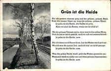 Feldpostkarte 2. Weltkrieg Grün ist die Heide Musik Lied-Text 1943 ab Barmstedt