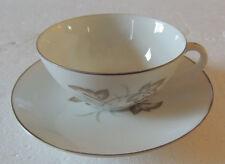 Phoenix China FAN Tan Tea Cup and Saucer SET OF 6 SIX BEAUTIFUL PERFECT