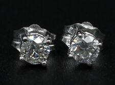 0.35 Carat total weight Round Cut Diamond Stud Earrings 14k White Gold