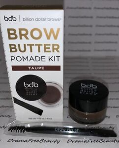 Billion Dollar Brows Brow Butter Pomade Kit *TAUPE* w/Spoolie Angled Brush BNIB