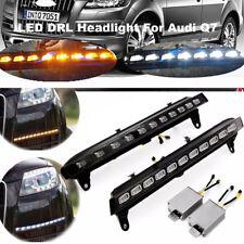 12V LED White DRL Daytime Running Light Fog Yellow Turn Signal For Audi Q7 07-09