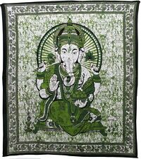 Double Bed Cover Batik Ganesha Design Large Throw Wall Hanging - FREE POST