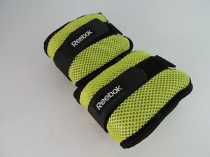 Reebok Toning Adjustable Ankle Weights 2 X 2.5 lb Workout Tone Shape Neon Green