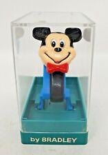 Bradley 1970's Disney Mickey Mouse Flip Face Digital Watch Acrylic Case New