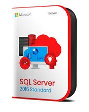 Licencia Key RETAIL Microsoft SQL Server 2016 Standard Genuina 2 Cores