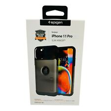 iPhone 11 Pro Spigen Slim Armor Shockproof Phone Case Color Gunmetal Gray