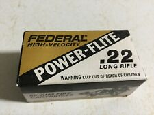 Federal Power-flite .22 Long Rifle Empty Cardboard Box And Insert Tray