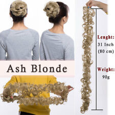 Women Messy Hair Bun Hairpiece Extension Scrunchie Fake Hair Pony tail Blonde US
