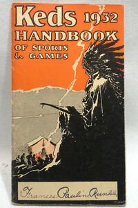 The Sports & Games HandBook But Out by KEDS Shoes 1932 Book