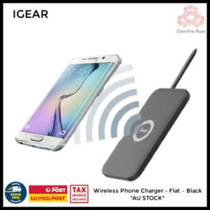 Wireless Phone Charger - Flat – Black *AU STOCK*
