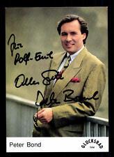Peter Bond Glücksrad Autogrammkarte Original Signiert # BC 39991
