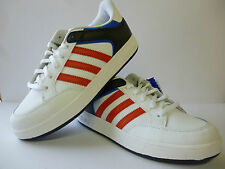 Adidas Boys Trainers New Older Boys White Red Blue Sizes 5 / 5.5 New £21.99