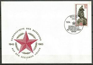 Germany (East) DDR GDR 1985 FDC Int. War Memorials Liberation Monument Seelow