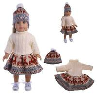 Doll Clothes Dress Outfit Winter Coat Set For 18'' Generation Girl Doll Our J7Z2